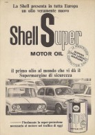 # ROYAL DUTCH SHELL OIL 1950s Car Italy Advert Pub Pubblicità Reklame Huile Olio Aceite Ol Lancia Fulvia Fiat 600 - Vervoer