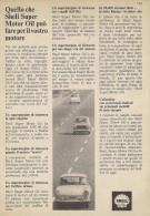 # ROYAL DUTCH SHELL OIL 1950s Car Italy Advert Pub Pubblicità Reklame Huile Olio Aceite Ol VW Fiat 1100 Fiat 500 - Vervoer