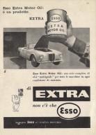 # EXXON MOBIL ESSO OIL 1950s Car Italy Advert Pub Pubblicità Reklame Huile Olio Aceite Ol Lancia Aurelia B24 Spider - Transportation