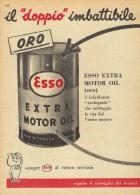 # EXXON MOBIL ESSO OIL 1950s Car Italy Advert Pub Pubblicità Reklame Huile Olio Aceite Ol - Transportation