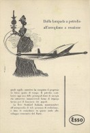 # EXXON MOBIL ESSO FUEL 1950s Car Petrol Italy Advert Pub Pubblicità Reklame Essence Benzina Benzin Gasoline - Vervoer