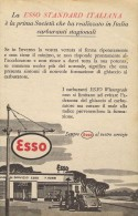 # EXXON MOBIL ESSO FUEL 1950s Car Petrol Italy Advert Pub Reklame Essence Benzina Benzin Gasoline - Other