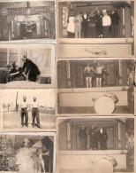 PHOTO STALAG IV F CAMP PRISONNIER FRANCAIS GUERRE SPECTACLE TROUPE THEATRE TRAVESTI FETE