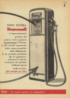 # EXXON MOBIL ESSO FUEL 1950s Car Petrol Italy Advert Pub Reklame Essence Benzina Benzin Gasoline - Transportation