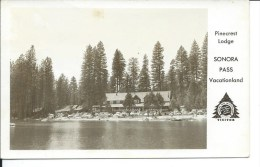 Pinecrest Lodge, Sonora Pass Vacationland, California, CA, 1950´s RPPC Real Photo Postcard # 9105 - Etats-Unis
