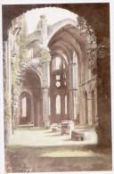 Carton Avec Reproduction Ruines De Villers La Ville - Vieux Papiers