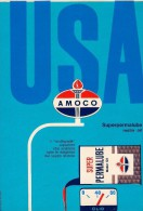 # AMOCO FUEL MOTOR OIL 1950s Car Petrol Italy Advert Pub Reklame Essence Benzina Benzin Gasoline Olio Huile Aceite Ol - Vervoer