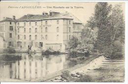 ENVIRONS D'ANGOULEME - UNE MINOTERIE SUR LA TOUVRE ( Animées  ) - France
