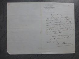 Journal Le Constitutionnel, Charles MERRUAU Lettre Autographe  1843 ; Ref 365 - Autographes
