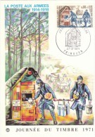 FRANCIA FRANCE JOURNEE DU TIMBRE 1971 MAXIMUM - Cartoline Maximum