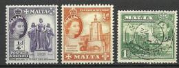MALTA 1943 & 1956  Michel 237 -238 MNH + Michel 192 O - Malta