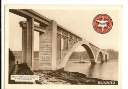 BUVARD Sociétés Des Ciments FRANÇAIS PORTLAND DEMARLE LONQUETY , Pont ALBERT LOUPPE à PLOUGASTEL - Buvards, Protège-cahiers Illustrés