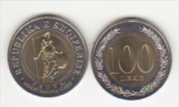 ALBANIE ,UNC 1x.bimetal= 100 LEK, 2000,wcc Km 80a - Albania