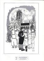 Comic Strips Mechelen /  Dessin Numéroté Genummerde Tekening / Format A4 - Boeken, Tijdschriften, Stripverhalen
