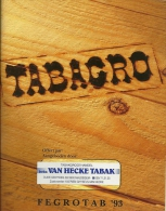 Tabagro Fegrotab 1993 / Tarif Pub Toutes Marques Prijslijst Reclame Alle Merken / 75p Format A5 - Books