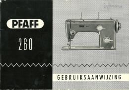 Pfaff 260 Naaimachine Machine à Coudre / 52p / Format A5 - Machines