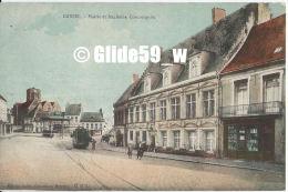 CASSEL - Mairie Et Ancienne Conciergerie (animée Avec Tramway) - Cassel