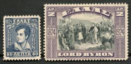 GREECE 1924 SET LORD BYRON MH* -CAG 250414 - Grecia