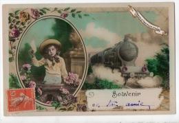 ENFANT . TRAIN . LOCOMOTIVE - Réf. N°5737 - - Portraits