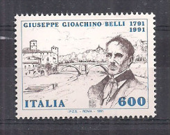 ITALIA 1991 GIOACHINO BELLI SASS. 1960 MNH XF - 6. 1946-.. Repubblica