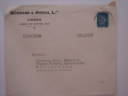 Portugal 1950 Commercial Cover  To UK Stamp - 1910-... Republic