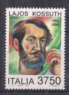 ITALIA 1994  LAJOS KOSSUTH SASS. 2104 MNH XF - 6. 1946-.. Repubblica