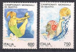 ITALIA 1994  NUOTO SASS. 2108-2109 MNH XF - 6. 1946-.. Repubblica