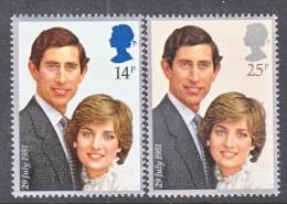 GREAT  BRITIAN  950-1   **   ROYAL  WEDDING  PRINCESS  DI - Unused Stamps