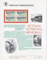 U.S. SP 664   VIETNAM  VETERANS  MEMORIAL  ( THE  WALL ) - Souvenirs & Special Cards
