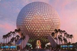 "SPACESHIP EARTH RIDE ""TIME MACHINE"" GEOSPHERE. AUDIO ANIMATRONICS STORY OF COMMUNICATIONS. UNCIRCULATED. GECKO - Disneyworld"