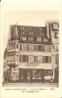 STRASBOURG -  MAISON AUFSCHLAGER PLACE KLEBER - 1865 -  Le Strasbourg Disparu - Maison D´Art Alsacienne - Strasbourg