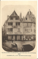 STRASBOURG - PLACE KLEBER ANGLE GRANDE RUE DE LA GRANGE - 1868 -  Le Strasbourg Disparu - Maison D´Art Alsacienne - Strasbourg