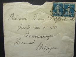 CMCA. 2. Semeuse 25 C Bleu. Ambulant Manuel Soissons à Compiégne - Postmark Collection (Covers)