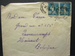 CMCA. 3. Semeuse 25 C Bleu. Manuel Ambulant Soissons à Compiégne - Railway Post