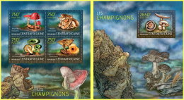 CENTRAL AFRICA 2013 ** M/S + S/S Mushrooms Pilze Champignons A1412 - Pilze