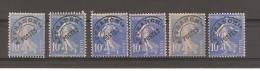 FRANCE PREOBLITERE 1922/19947 // Petit Lot De 6 Exemplaires Du YT 52  Sans Gomme  (c. 2013 = 0.30 Euro) - Préoblitérés