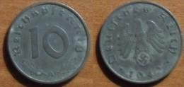 1942 - Allemagne - Germany - 10 reichspfennig (A), zinc