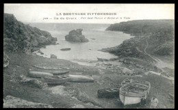 Cpa Du 56 Ile De Groix  Port Saint Nicolas Et Rocher De La Vache  No 7102     AVR14 - Groix