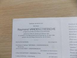 Doodsprentje Raymond Vandendriessche Villers St Genest 8/2/1937 Poperinge 10/3/1998 ( Martina Decaesteker ) - Religione & Esoterismo