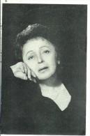 EDITH  PIAF....superbe Portrait Sur Fond Noir......au Dos Les Chansons De Sa Carriere... - Artistes