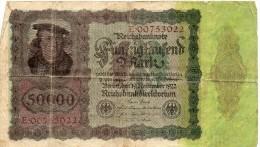 Allemagne - 50000 Mark - 1922 - [ 3] 1918-1933 : Weimar Republic