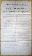 """Affiche"""" Milice Nationale De 1816, Province De Hainaut, Mons"""" - Documents"""