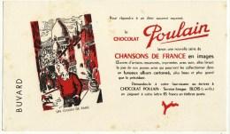Buvard Chocolat Poulain Chansons De France Un Gamin De Paris - Cocoa & Chocolat