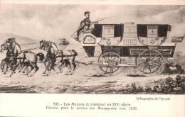 LES MOYENS DE TRANSPORT AU XIX E SIECLE VOITURE POUR LE SERVICE DES MESSAGERIES VERS 1820 PAS CIRCULEE - Altri