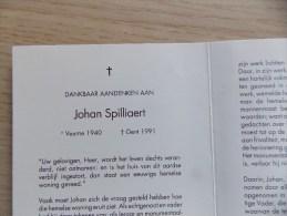 Doodsprentje Johan Spilliaert Veurne 1940 Gent 1991 - Religion & Esotérisme