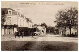 Montpont - Place De La Liberté Et Route De Mussidan - Autres Communes
