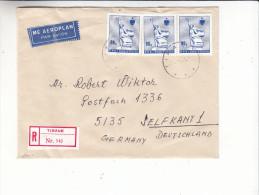 Statues - Albanie - Lettre Recommandée Des Années 80 - Albania