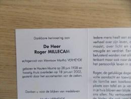 Doodsprentje Roger Millecam Houtem (Veurne) 28/6/1938 - 18/2/2002 ( Martha Verheyde ) - Religione & Esoterismo