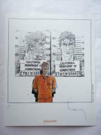 Ex Libris - FRANCQ - LARGO WINCH - NS - FANTASMAGORIES Avec Un Pli En Bas à Droite - Illustratori D - F