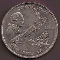 NEW ZEALAND 1 DOLLAR 1969 COOK CHART´S - Nouvelle-Zélande